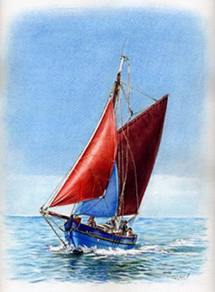 Encore plus d 39 aquarelles thierry tabutaud - Dessin de bateau facile ...